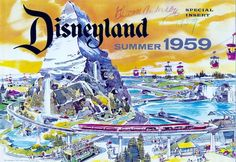Disneyland ad featuring the new Tomorrowland expansion, 1959