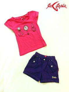 Las mamás si saben dónde encontrar la moda y al mejor precio! 3er.piso de Tienda La Gloria #camisetas #short #niñas