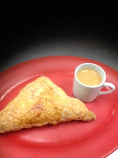 Guava-cheese pastelito with a shot of cafe Cubano.
