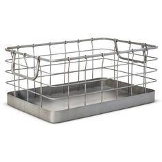 Metal Basket- Gray - The Industrial Shop™. Image 1 of 2.