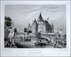 Amsterdam-St.Antnieswaag | Herkomst : J.L. Terwen - Het Koningrijk der Nederlanden, afm. 14 x 20 cm Staalgravure 1860
