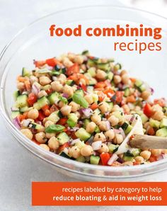 This Vegan Chickpea Salad is a healthy packed lunch you can make ahead of time. … This Vegan Chickpea Salad is a healthy packed lunch you can make ahead of time. It's loaded with filling fiber and plant based protein! Food Combining Diet, Food Combining Chart, Clean Eating Snacks, Healthy Eating, Whole Foods, Healthy Packed Lunches, Work Lunches, Vegetarian Recipes, Healthy Recipes