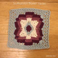 Grannies Crochet, Crochet Squares Afghan, Crochet Blocks, Crochet Motif, Crochet Yarn, Crochet Stitches, Free Crochet, Crochet Patterns, Granny Squares