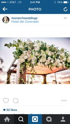 Today's #chuppah is fabulousness from @monarchweddings at the remarkable @hoteldelcoronado