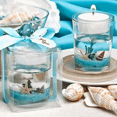 Stunning Beach Candle Favors