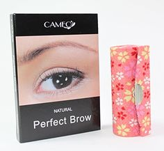 1 Pink Sakura Flower Lipstick Case  1 Cameo Cosmetics Natural Perfect Brow Eyebrows Color Brush Stencils Tweezer Brush * Continue to the product at the image link.