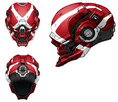 View an image titled 'Locus Helmet Skin Art' in our Halo 4 art gallery featuring official character designs, concept art, and promo pictures. Skins Characters, Sci Fi Characters, Cyberpunk, Robot Design, Helmet Design, Design Design, Armor Concept, Concept Art, Character Concept
