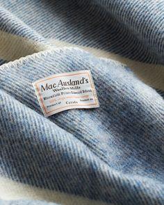 Blue Wool Blanket - MacAusland Woolen Mills - Nalata Nalata