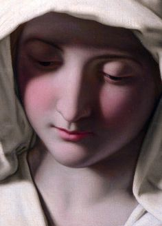 "c0ssette:  ""The Madonna at Prayer"" detail,Giovanni Battista Salvi da Sassoferrato (1640-50)"