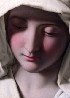"""c0ssette:  """"The Madonna at Prayer"""" detail,Giovanni Battista Salvi da Sassoferrato (1640-50)"""