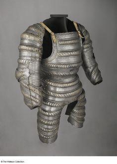 Three-quarter armour  Attributed to  Daniel Hopfer (1470 - 1536), Armourer  Attributed to Kolman Helmschmid (1470 - 1532), Armourer  Augsburg, Germany  c. 1520 - 1525