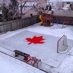 13 Backyard Rinks That Will Give You The Chills Outdoor Hockey Rink, Backyard Hockey Rink, Backyard Ice Rink, Outdoor Skating Rink, Ice Hockey Rink, Backyard Play, Backyard Retreat, Ice Skating, Backyard Ideas
