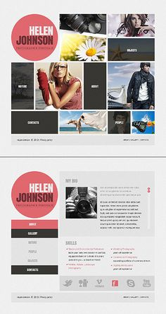Template 37255 - Awesome Single Page Photographer Portfolio jQuery & HTML5 Website Template With Lightbox Photo Gallery