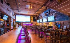 The Lodge in Downtown Fort Myers, Florida brings you Sports on SW Florida's biggest LED TV, 28 different BREWS that let you self-tap craft beers & pay by the ounce or select 28 degree ice cold drafts, and slow smoked BBQ specialties with regional sauces & more.