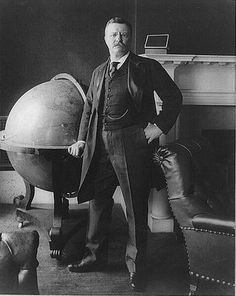 Umm WHAT IF I HAD THAT GLOBE AND CHAIR FOR MY CLASSROOM?!?! Teddy Roosevelt. Historical badass.