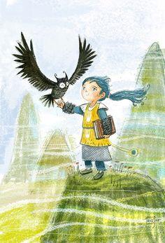 juanbjuan children illustration: Little sorcerer