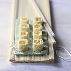 Sandwich Sushi #WeightWatchers #WWrecept #Vega #Veggie Sushi For Kids, Good Healthy Recipes, Healthy Food, Party Snacks, Pasta, High Tea, Finger Foods, Creme, Tapas