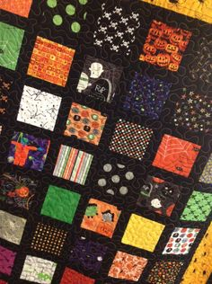 Halloween Quilt from charm square scraps