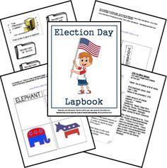 Elections Unit Study Lesson Plan and Lapbook Printables FREE History Activities, Learning Activities, Election Day, Election Process, Presidential Election, Teaching Social Studies, Teaching Tools, Study History, School Fun