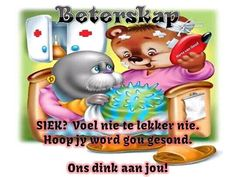 ~ Get Well Quotes, Goeie More, Afrikaans Quotes, Get Well Soon, Tree Branches, Art Pieces, Language, Christmas Ornaments, Motivational
