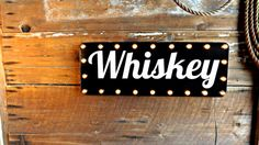 Bar sign Beer sign Whiskey sign Marquee light Liquor sign Retro bar decor Tavern sign Drinks Spirits Vintage bar lights.  This 36 x 13.5 retro vintage look bar sign is made from 20ga steel with welded construction. I dont use the flimsy ductwork type steel, 20ga is sturdy stuff and over two times as thick. This sign weighs 3lb and hangs by loops welded on the backside.  The white lettering pops out of the black background. The lettering is painted, no decals. I hand make these in my shop…