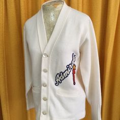9ba9240d95a Vintage 1950s Admiral Letterman Sweater 50s true vintage school letterman  sweater Woman s Small to Medium Sweaters
