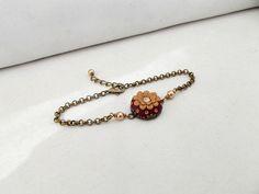 Gold Flower Bracelet Floral Bracelet Floral by TunicBotik on Etsy, $30.00