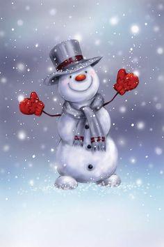 Snowman 6, Christmas Snowman, Christmas Crafts, Christmas Decorations, Watercolor Christmas Cards, Christmas Drawing, Christmas Paintings, Snowmen Paintings, Snowman Wallpaper