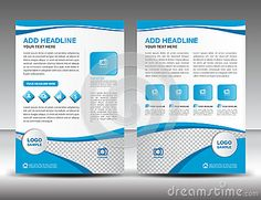 Blue Business Brochure Flyer Design Layout Template In A Size