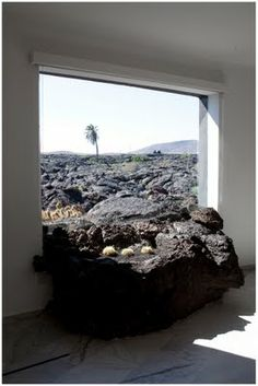 Lanzarote, Canary Islands. Cesar Manrique's home itself is built within a 3,000 m2 lot, on the site of the Lanzarote eruptions in the 18th century