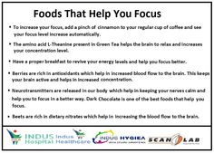 Foods That Help You Focus......