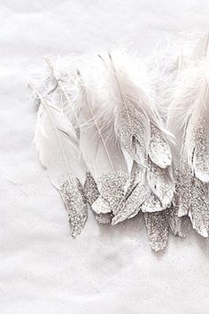 Feathers dipped in glitter !!!!!!!
