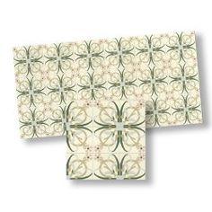 Green & Pink Mosaic Floor Tile