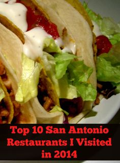 San Antonio is full of delicious food! Here are my top 10 San Antonio Restaurants in 2014.