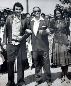 Randhir Kapoor, Raj Kapoor and Rekha -1970's