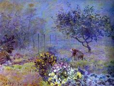 He remained in Paris during the siege, and lost most of his earlier work during the war. Afterwards he worked with Monet and Renoir to develop the Impressionist approach to landscapes. Renoir, Impressionist Landscape, Post Impressionism, Monet Paintings, Landscape Paintings, Landscapes, Sisley Alfred, Charles Gleyre, Pop Art