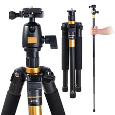 Awesome!! DSLR Camera Aluminum Tripod w/ Monopod & Ball Head #electronicaccessories #need #musthave #vloggingnecessity