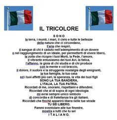 POESIA IL TRICOLORE Geography For Kids, Italian Language, Learn French, My Way, Problem Solving, Pixel Art, Letting Go, Coding, Teacher
