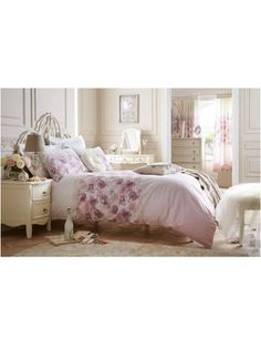 Delicate Rose Duvet Cover and Pillowcase Set