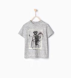 ZARA - KIDS - Dog and bicycle T-shirt