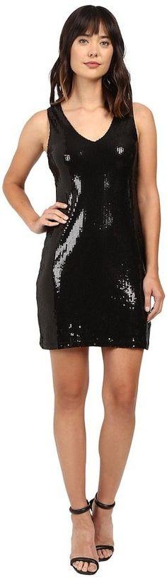 Karen Kane V-Neck Sequin Sheath Dress