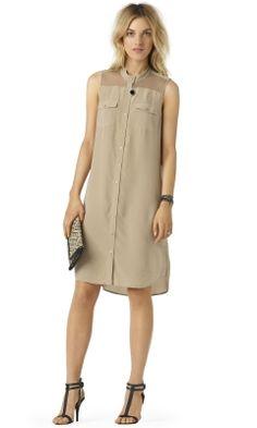 Lucas Silk Shirtdress - Club Monaco Dresses - Club Monaco