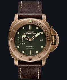 "Forsale : Panerai Luminor Submersible 1950 ""Bronzo"" Pam 382 (Preowned - Collectible item Limited ______________________________ Please contact us for price inquiry : Whatsapp : 6285723925777 Blackberry Pin : ________________________ by champion_watches Luminor Watches, Panerai Luminor 1950, Rolex Watches, Watches For Men, Gents Watches, Wrist Watches, Panerai Automatic, Panerai Luminor Submersible, Bronze"