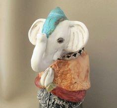Ganesh the Elephant God Porcelain Art Vessel  Ganesha by jillatay, $450.00