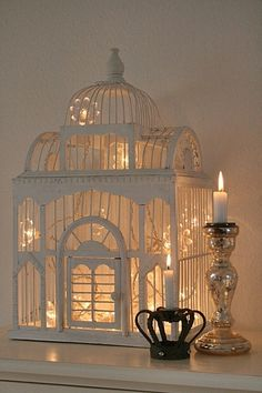 Birdcage light - I have a beautiful black birdcage leftover from our wedding that I want to use!