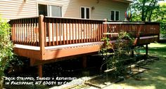 Deck Refinishing & Staining Home Improvement Restorations by CraftPro Contracting in Morristown, NJ 07960