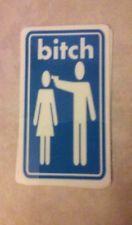 NOS Bitch sticker vintage 90's skateboarding Girl Rocco World Industries Blind