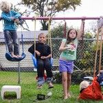 Open ended supplies for imaginative backyard play