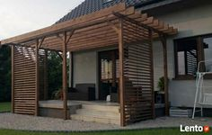 Pergola zadaszenie *gratis* taras balustrada balkon wiata do Deck With Pergola, Outdoor Pergola, Diy Pergola, Backyard Retreat, Backyard Patio, Garden Design, House Design, Home Landscaping, Back Patio