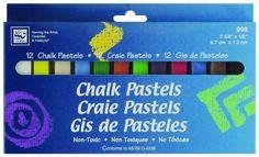 Loew-Cornell Chalk Pastels, 12-Count